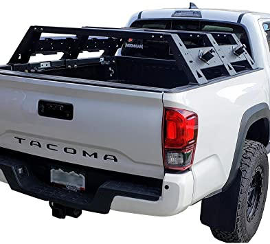hooke road tacoma overland bed rack truck cargo carrier compatible with toyota tacoma 2005 2021 2nd 3rd gen