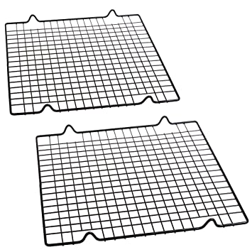 cosmos pack of 2 non stick baking cooling rack 10 x 11 inches