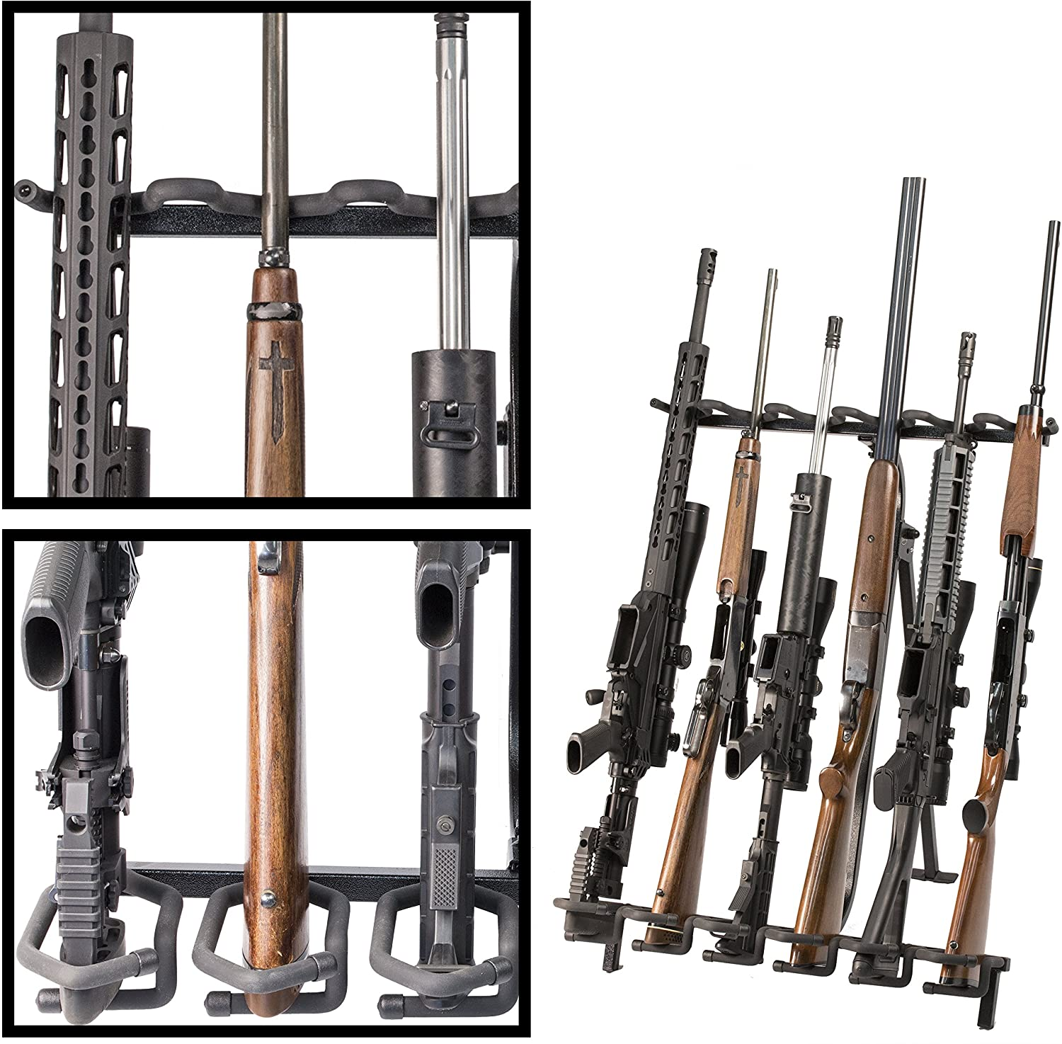hold up displays portable gun rack and bow holder tactical freestanding folding firearm stand holds any rifle or bow keeps guns organized at the