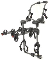 hollywood racks over the top 3 bike rack for vehicles w spoilers trunk mount adjustable arms